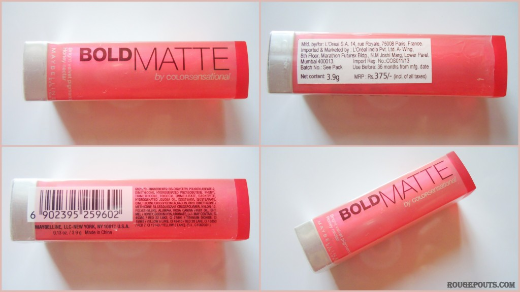 Maybelline New York Bold Matte Lipstick in the shade MAT 2 Review!!
