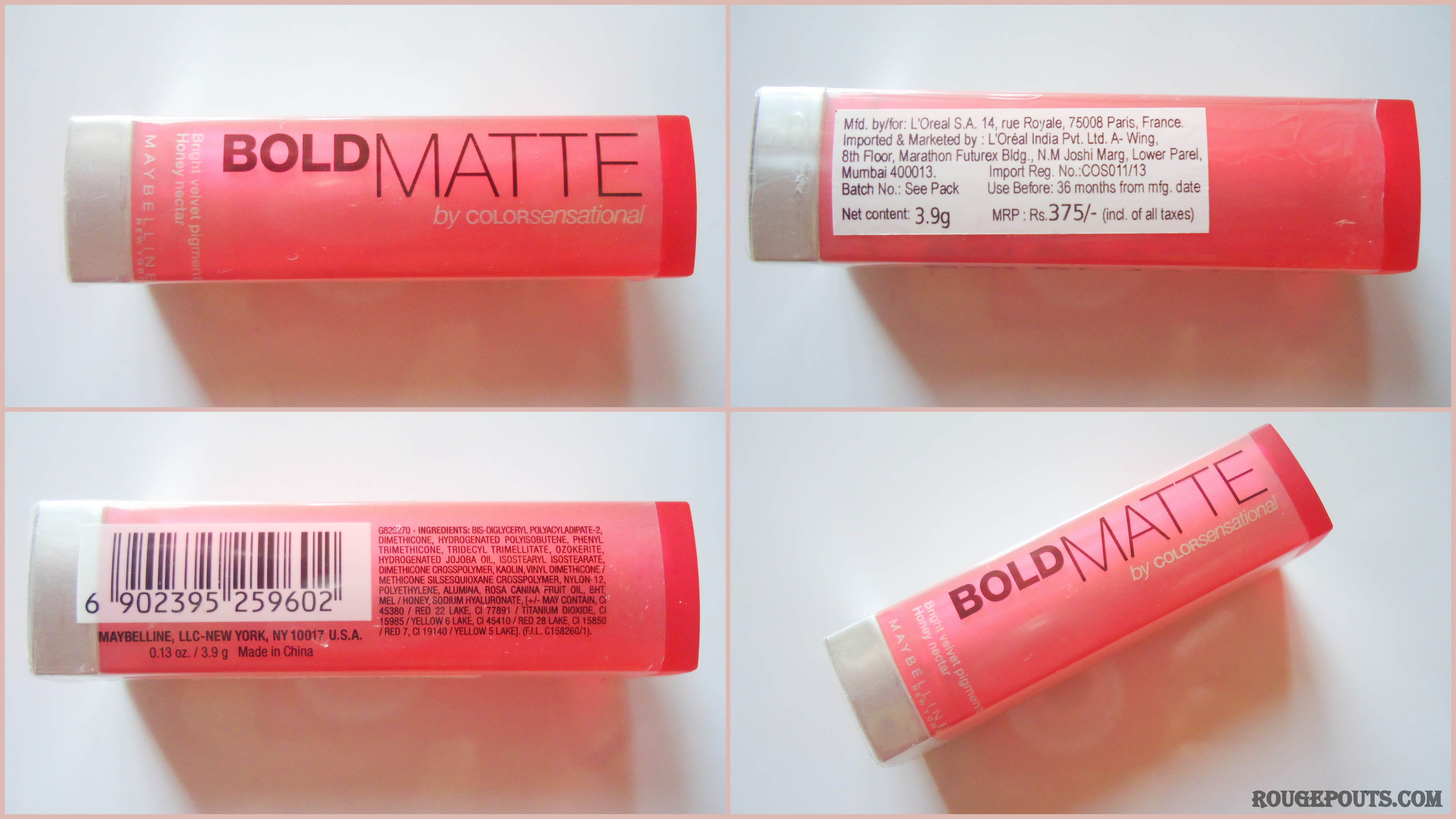 6d21608b30 Maybelline New York Bold Matte Lipstick in the shade MAT 2 Review ...