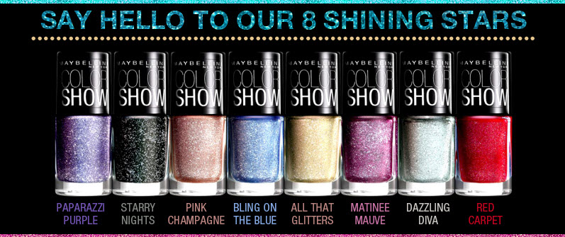 Maybelline Color Show Glitter Mania Nail Paints Review!!