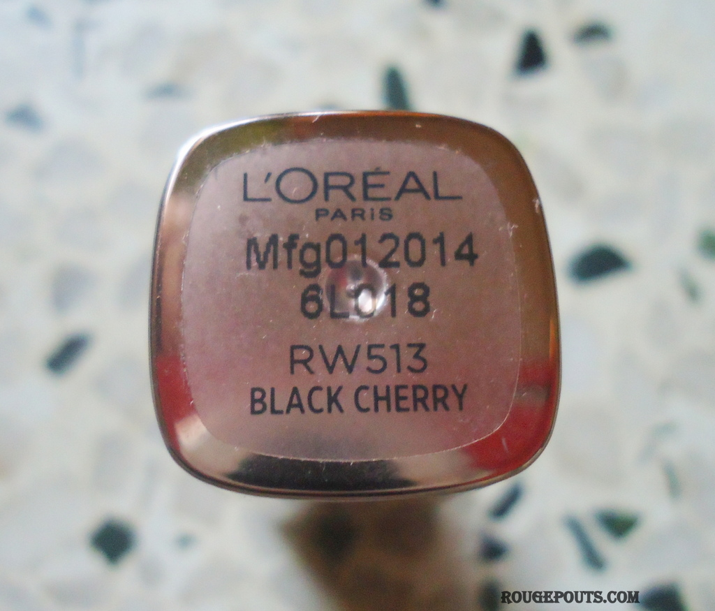 L'Oréal Paris Color Riche Moist Matte Lipstick in the Shade Black Cherry Review!!