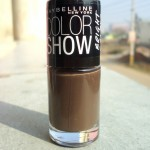 Maybelline Color Show Bright Sparks Nail Paint in the shade Firewood Brown (703) Review