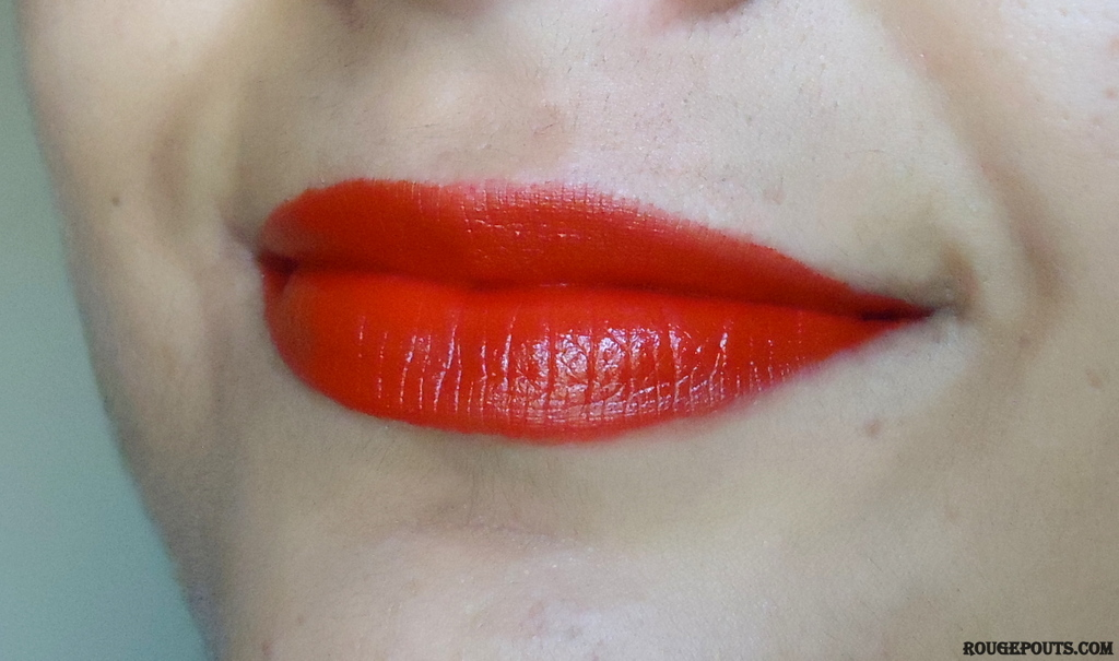 Maybelline Color Show Lipstick in the shade Red Rush Review!!