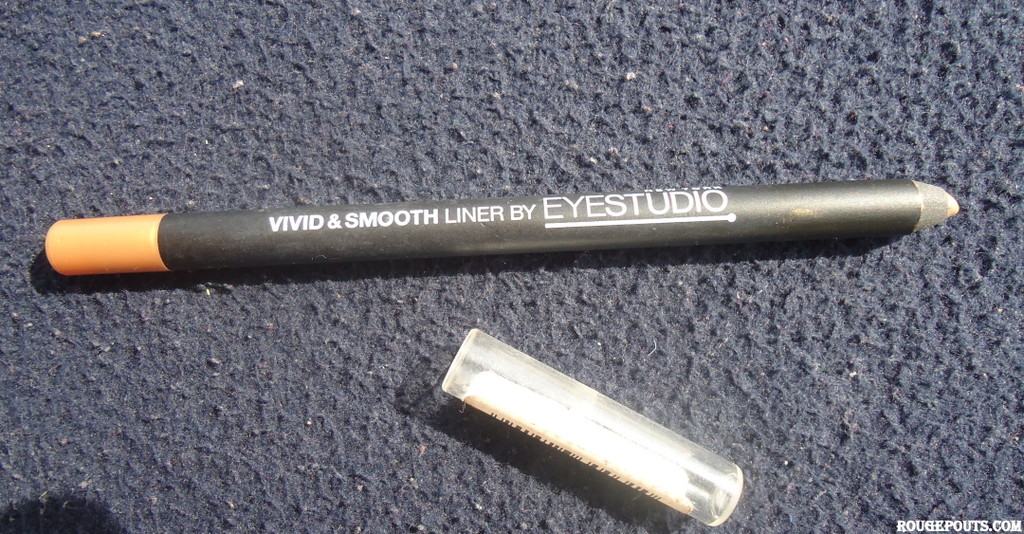 Maybelline Vivid and Smooth Liner by EYESTUDIO in Gold Review Swatches Photos