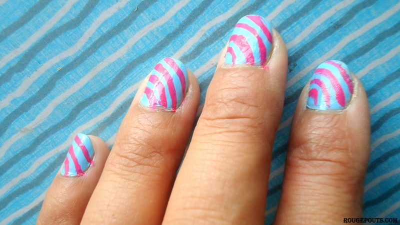 Spring DIY Nail Art Series| Stripes on Blue