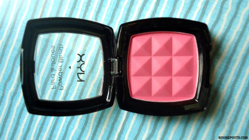 NYX Powder Blush in the Shade Peach Review Swatches Photos