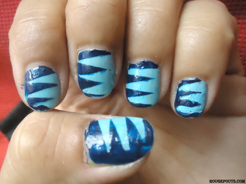 DIY Spring Nail Art Series|Pointy Stripes