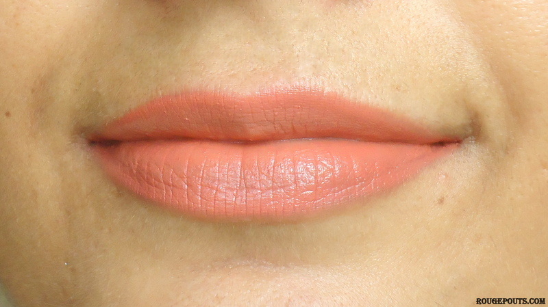 Faces Glam On Color Perfect Lipstick in the shade Bare Again Review Swatches