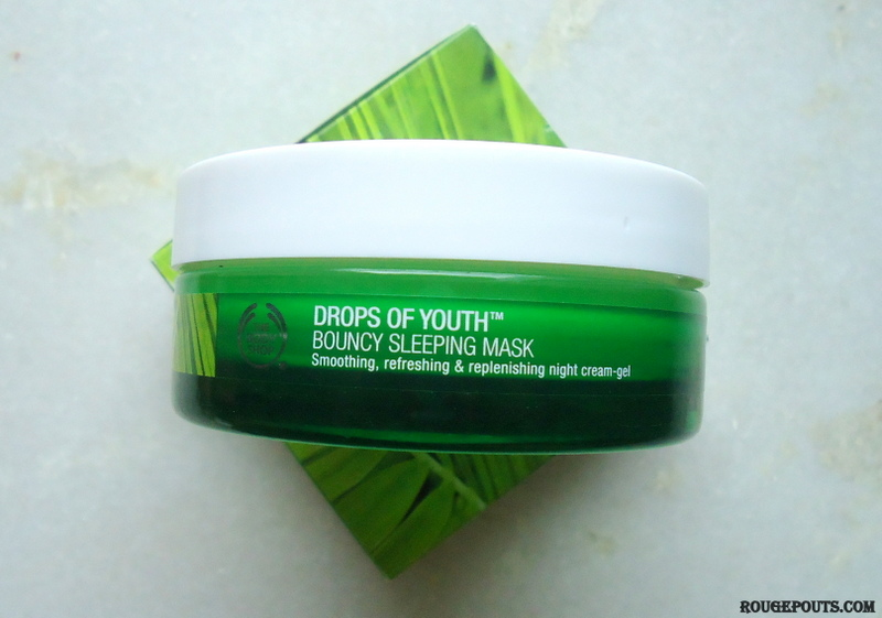 The Body Shop Drops of Youth Bouncy Sleeping Mask Review|Swatches