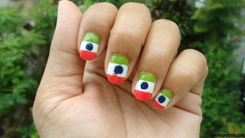 DIY Nail Art | Tricolor Nails on Independence Day