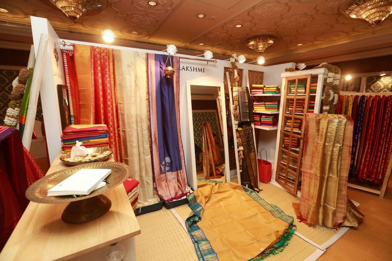 Saree Pavillion at Vogue Wedding Show 2015 at Taj Palace, New Delhi