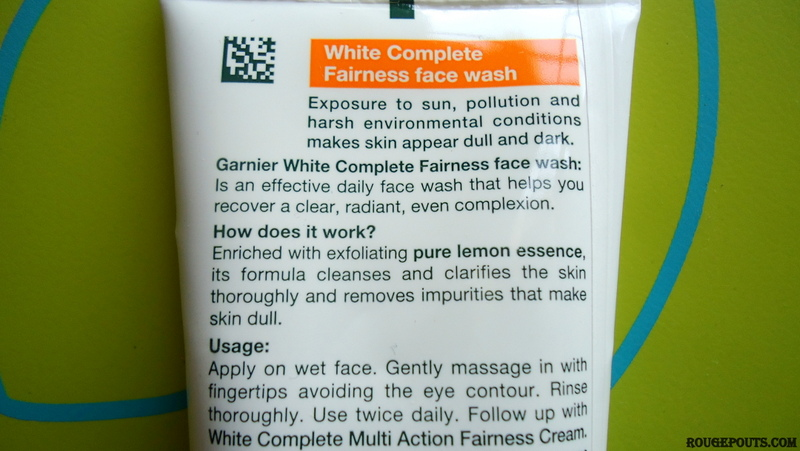 Garnier Skin Naturals White Complete Fairness Face Wash Review and Swatch