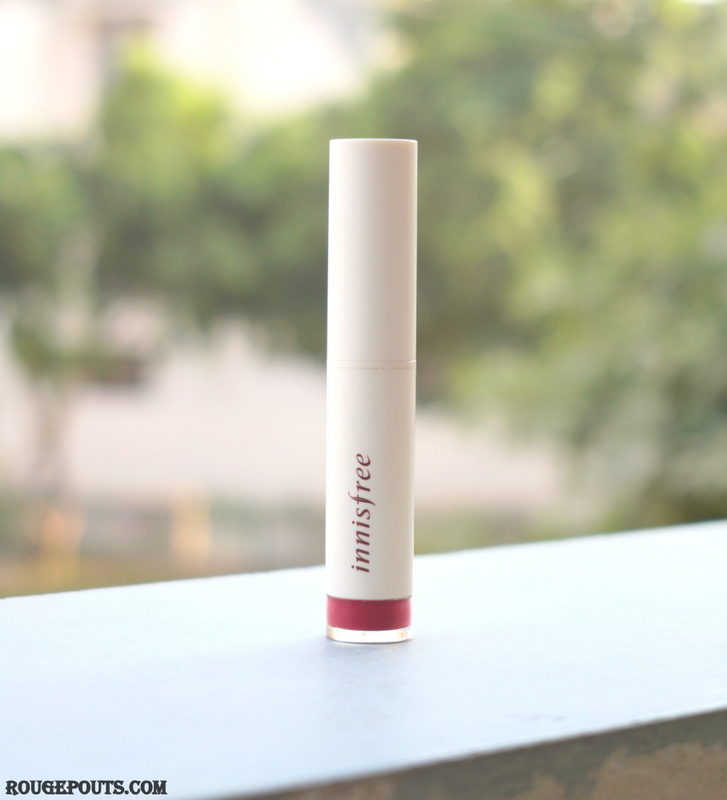 Innisfree Color Glow Lipstick in shade # 5 Review and Swatches