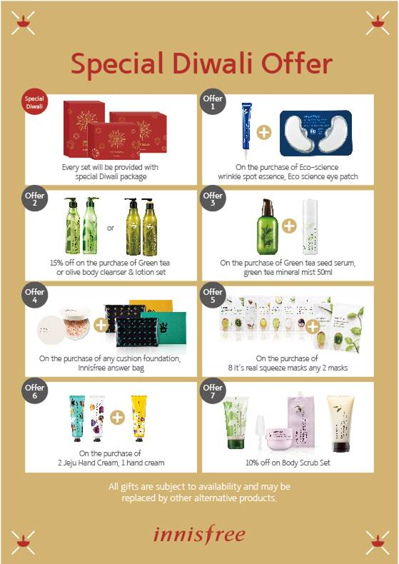 Innisfree India Diwali Offers!!
