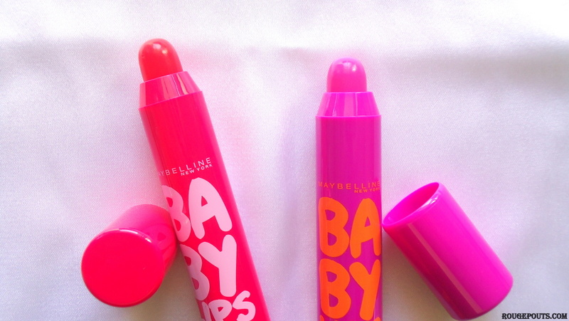 Maybelline Baby Lips Candy Wow in Cherry and Mixed Berry Review and Swatches