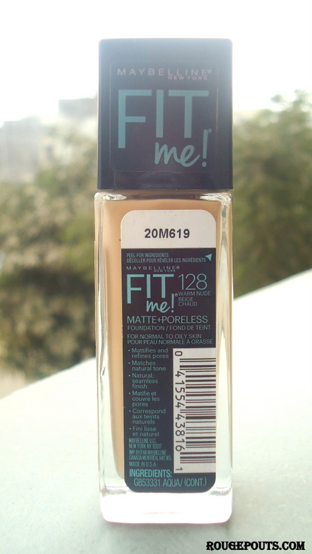 Maybelline Fit Me Matte+Poreless Foundation Review and Swatches