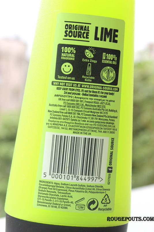 Original Source 40 Real Zingy Limes Shower Gel Review and Swatch