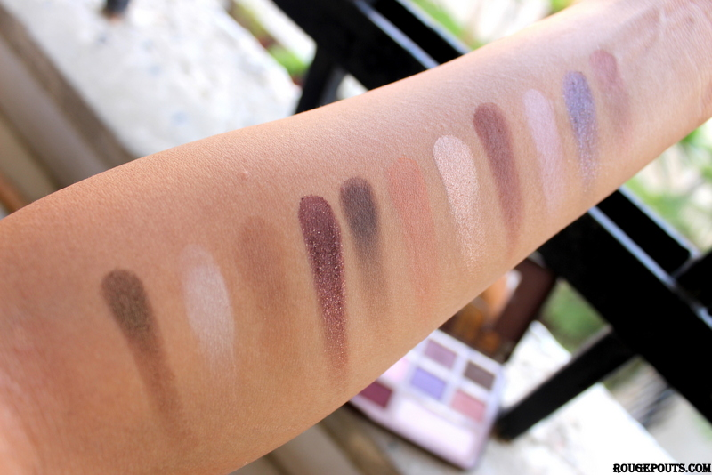 Swatches of the Top Two Rows