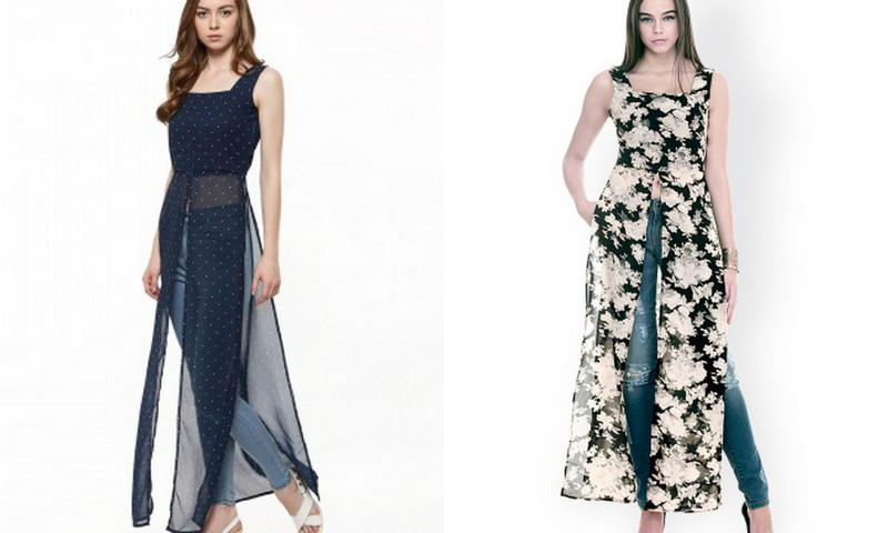Maxi Tops! Image Source - Left - Koovs.com and Right - Myntra.com