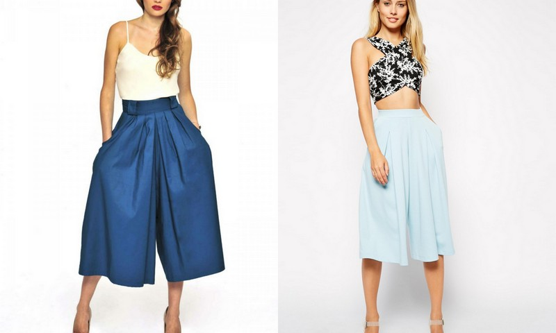 Culottes! Image Source - Left - sweetdotaddiction.com and Right - bustle.com