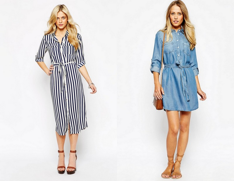 Shirt Dresses! Image Source - Left - thegloss.com and Right - asos.com