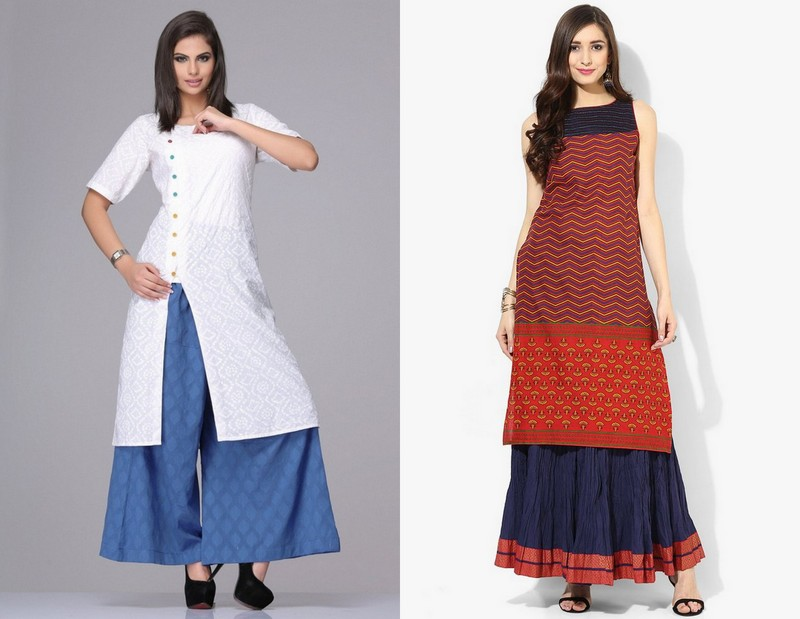 Indo-Western Fusion! Image Source - Left - abeautyhub.com and Right - pinterest.com