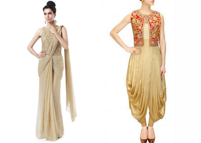 Indo-Western Fusion! Image Source - Left - kalkifashion.com and Right - fashionpro.me