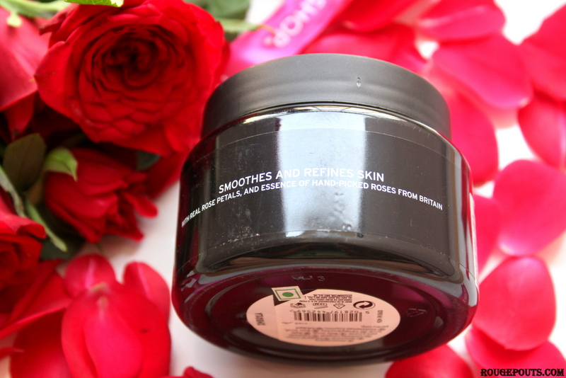 The Body Shop British Rose Body Scrub Review and Swatch