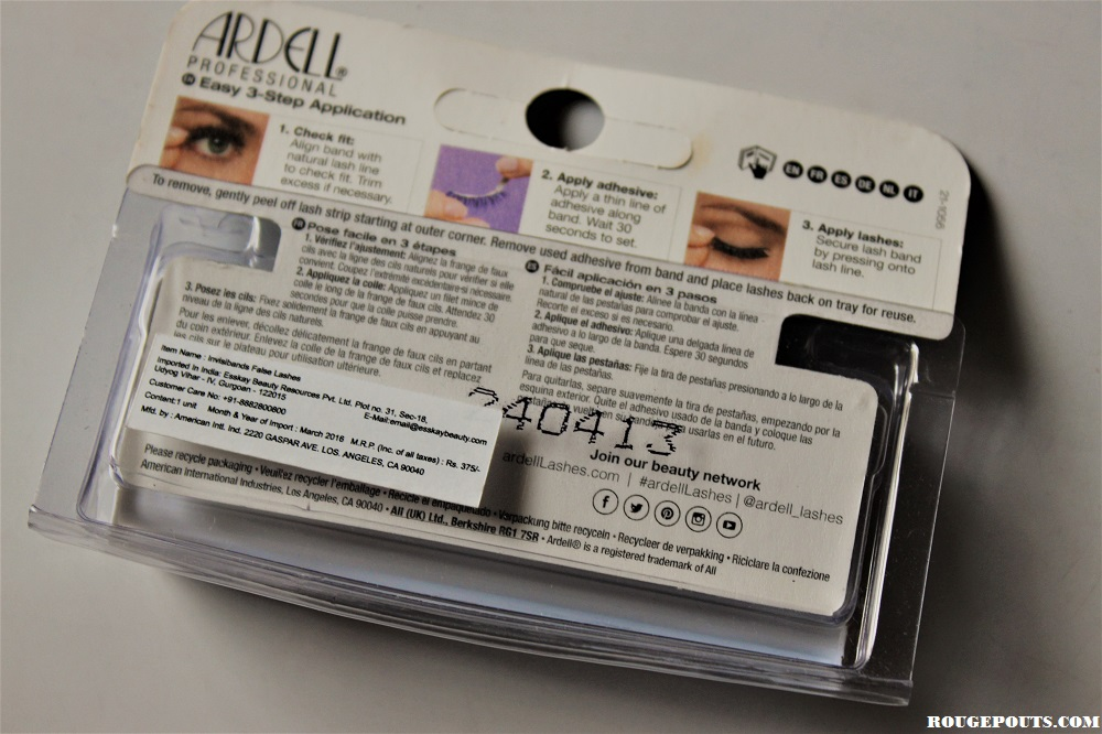 Ardell Professional Lashes in Natural 105 Black Review!