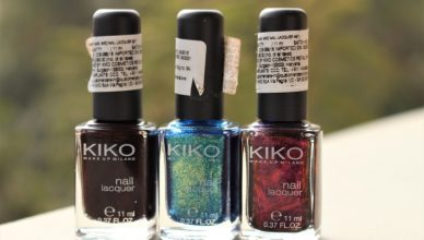 KIKO Nail Lacquers in Shades 227, 530, 497 Review and Swatch!