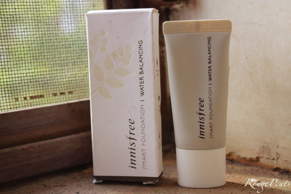 Innisfree Smart Foundation | Water Balancing Review and Swatch | RougePouts