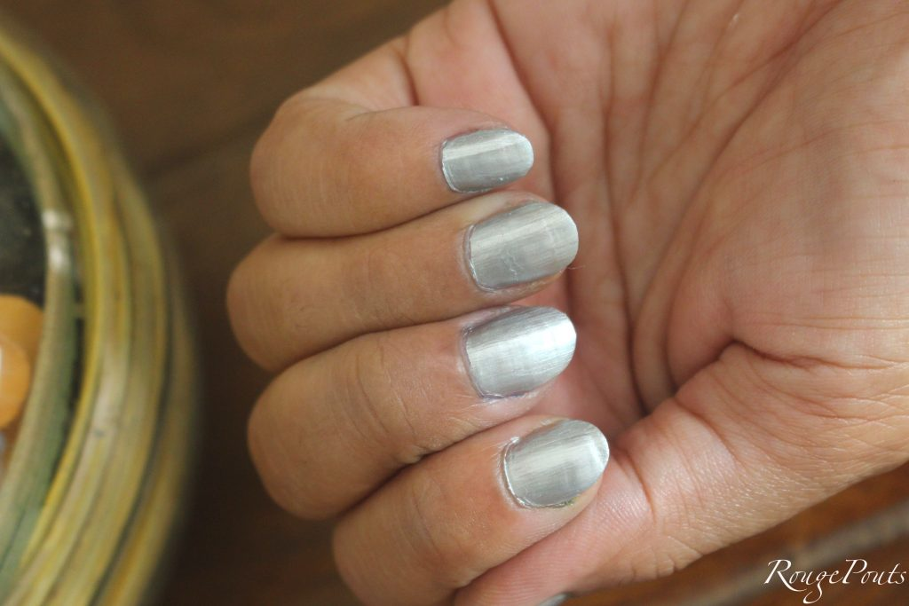 Nykaa Mirror Chrome Nail Lacquer Molten Sterling 163